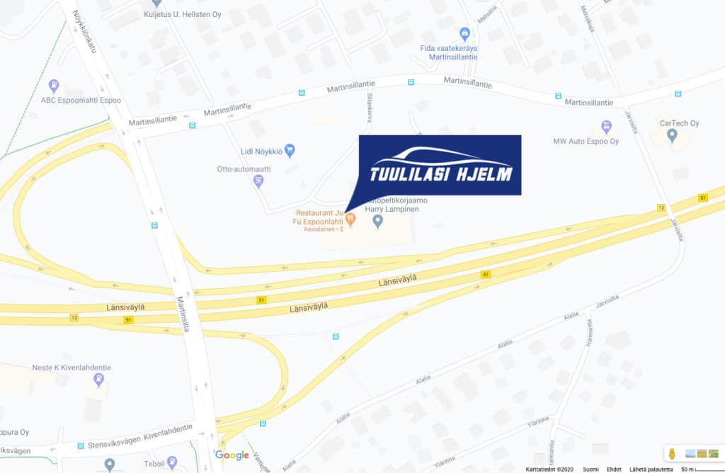 kartta Tuulilasi Hjelm